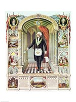 George Washington as a Freemason Fine Art Print