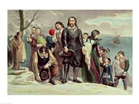 The Landing of the Pilgrims at Plymouth, Massachusetts, December 22nd 1620 Fine Art Print