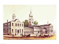 Independence Hall, Philadelphia, 1776 Fine Art Print