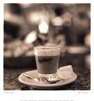 Caffe, Lucca Framed Print