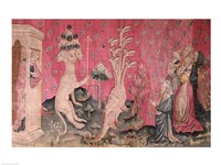 The seven-headed beast from the sea receiving the homage of men Fine Art Print