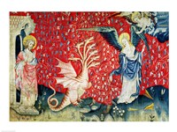 The Woman Receiving Wings to Flee the Dragon Fine Art Print