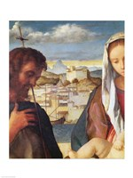 Madonna and Child with St.John the Baptist and a Saint Fine Art Print