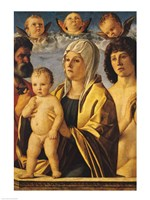 The Virgin and Child with St. Peter and St. Sebastian Fine Art Print
