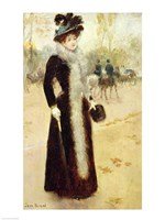 A Parisian Woman in the Bois de Boulogne Fine Art Print