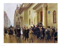 Leaving the Lycee Condorcet, 1903 Fine Art Print