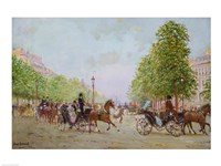 The Promenade on the Champs-Elysees Fine Art Print