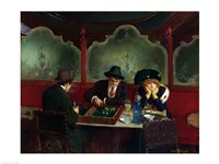 The Backgammon Players Fine Art Print