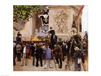 The Funeral of Victor Hugo Fine Art Print