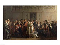 Reunion of Artists in the Studio of Isabey, 1798 Fine Art Print