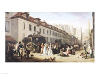The Arrival of a Stagecoach at the Terminus Fine Art Print