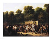 The Distribution of Food and Wine on the Champs-Elysees Fine Art Print