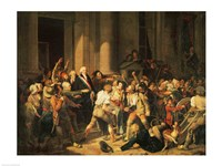 Act of Courage of Monsieur Defontenay, Mayor of Rouen Fine Art Print