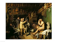 The Studio of Jean Antoine Houdon Fine Art Print