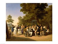 Politicians in the Tuileries Gardens, 1832 Fine Art Print