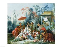 The Chinese Garden, c.1742 Framed Print