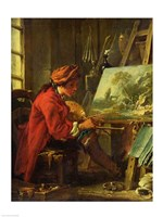 The Painter in his Studio Fine Art Print