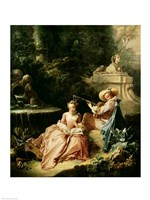 The Music Lesson, 1749 Fine Art Print