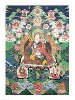 Tanka of Padmasambhava Framed Print