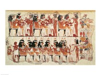 Banquet scene, from Thebes Fine Art Print