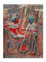The back of the throne of Tutankhamun Fine Art Print
