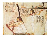 Two Musicians, from the Tomb of Rekhmire Fine Art Print