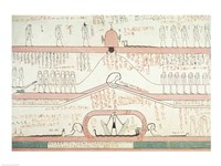 Scene from the Book of Amduat showing the journey to the Underworld Fine Art Print