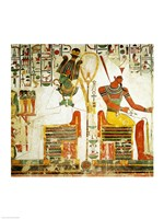 The Gods Osiris and Atum, from the Tomb of Nefertari Framed Print