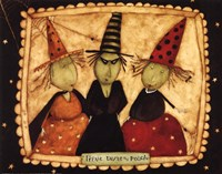 Halloween: Trixie, Dixie and Peach Fine Art Print
