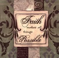 Sage/Cream...Faith Fine Art Print