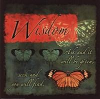 Butterfly Sentiments...Wisdom Fine Art Print