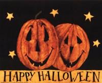 Happy Halloween Pumpkins Framed Print