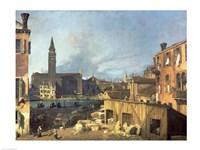 Venice: Campo San Vidal and Santa Maria della Carita Fine Art Print