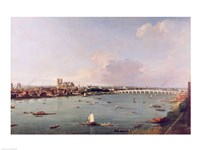 View of the Thames from South of the River Fine Art Print