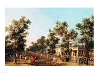 Vauxhall Gardens: the Grand Walk Fine Art Print