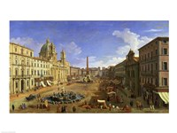 View of the Piazza Navona, Rome Fine Art Print