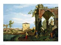 Capriccio with Motifs from Padua Fine Art Print