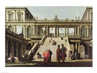 Castle Courtyard, 1762 Fine Art Print