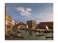 The Rialto Bridge, Venice Framed Print