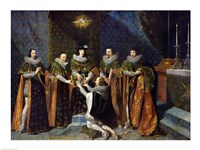 Louis XIII Receiving Henri d'Orleans Fine Art Print