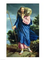 The Good Shepherd walking Fine Art Print