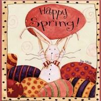 Spring Bunny Holding Egg Framed Print