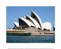 Sydney Opera House with Sydney Ferry Collaroy Fine Art Print