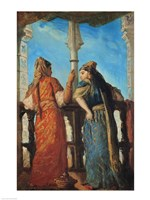 Jewish Women at the Balcony, Algiers, 1849 Fine Art Print