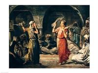 Dance of the Handkerchiefs, 1849 Fine Art Print