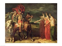 Macbeth and the Three Witches, 1855 Fine Art Print