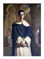 Portrait of Jean Baptiste Henri Lacordaire Fine Art Print