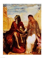 Othello and Desdemona in Venice, 1850 Fine Art Print