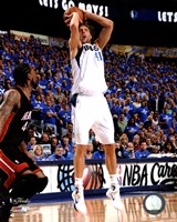 Dirk Nowitzki Game 5 of the 2011 NBA Finals Action(#22) Framed Print