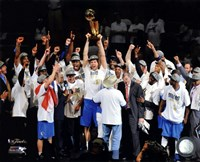 The Dallas Mavericks Celebrate Winning the Game 6 of the 2011 NBA Finals Framed Print